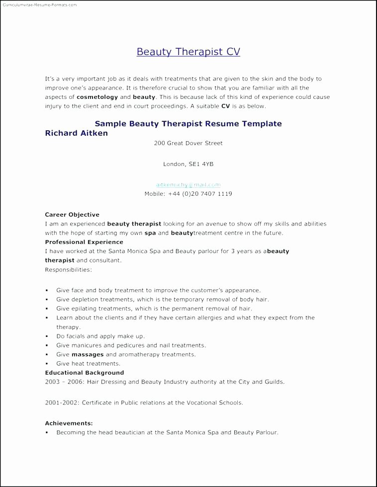 Job Description for Cosmetology Cover Letter A Trainee