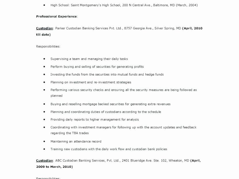 Job Description Janitor – Trezvost