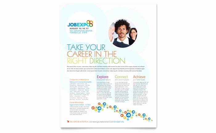 Job Expo & Career Fair Flyer Template Design