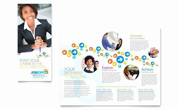 Job Expo & Career Fair Tri Fold Brochure Template Design