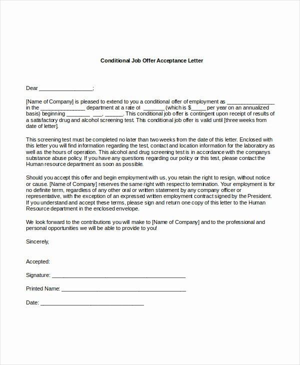 Job Fer Acceptance Letter 8 Free Pdf Documents