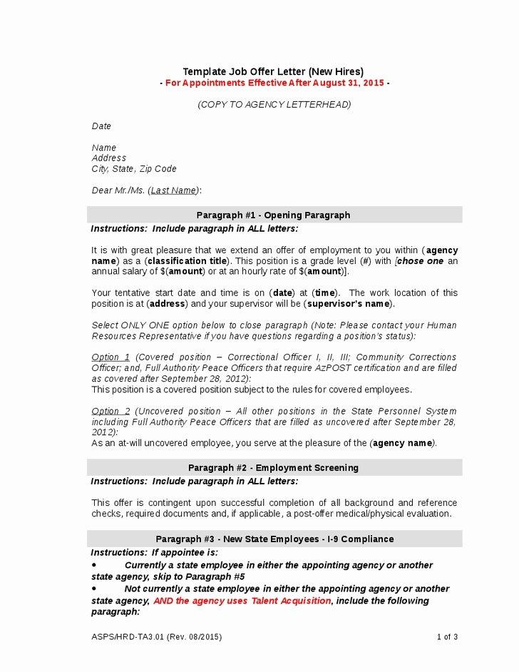 Job Fer Letter Negotiation Job Fer Letter Sample