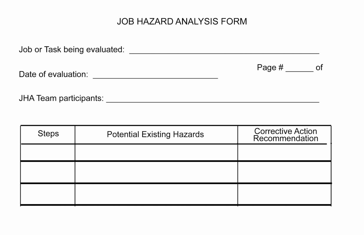 Job Hazard Analysis form