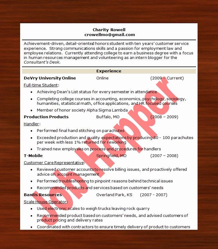 Job Hopper Resume Best Resume Gallery