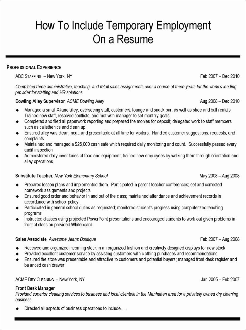 Job Hopper Resume