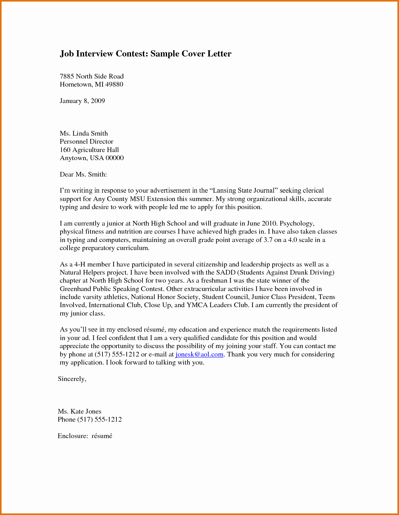 Job Interview Cover Letterreference Letters Words