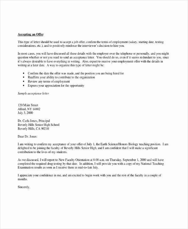 Job Offer Letter Word Template & Essay Help