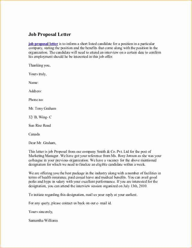 Job Proposal Example Business Proposal Templated