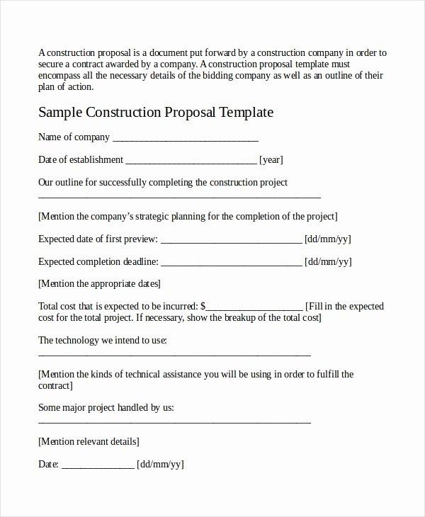 Job Proposal Template 18 Free Word Pdf Document