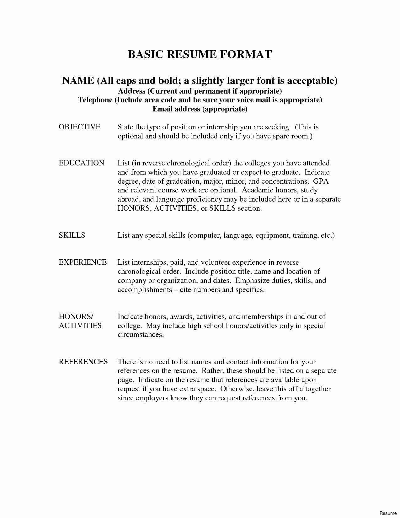 Job Reference format Sample Resume Reference Page Example