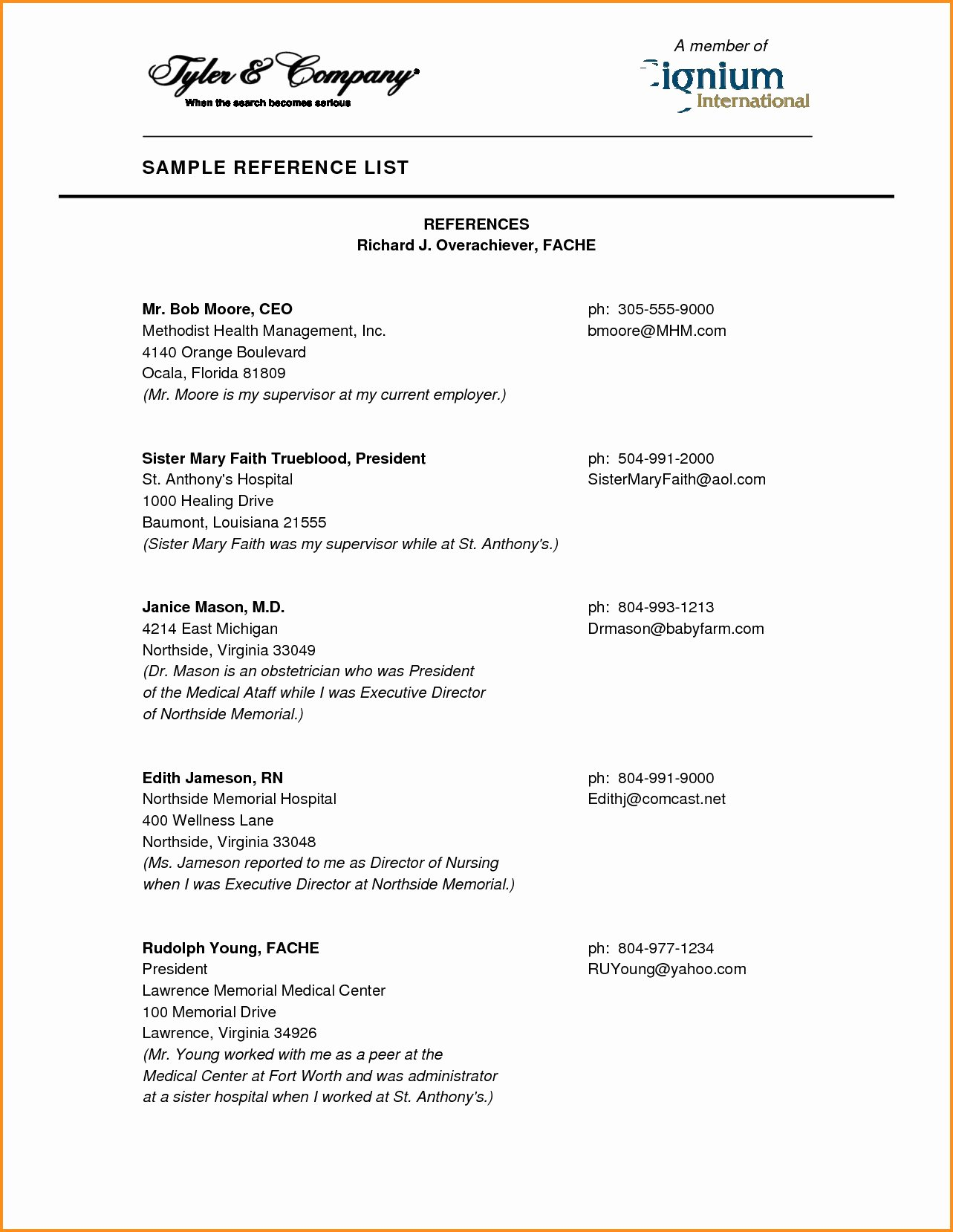 Job Reference format Sample Resume References format Job