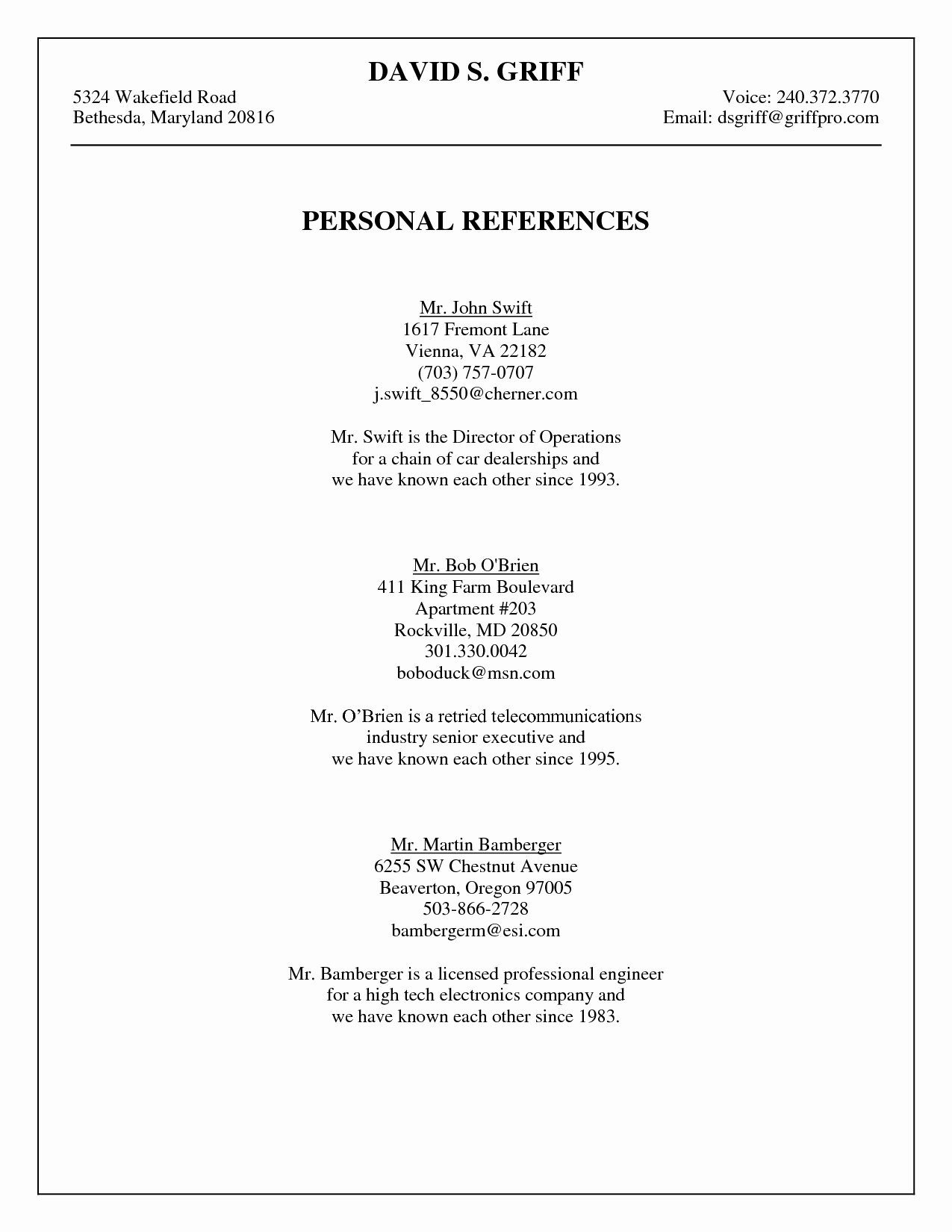 Job Reference Page Template Bibliography Generator Should