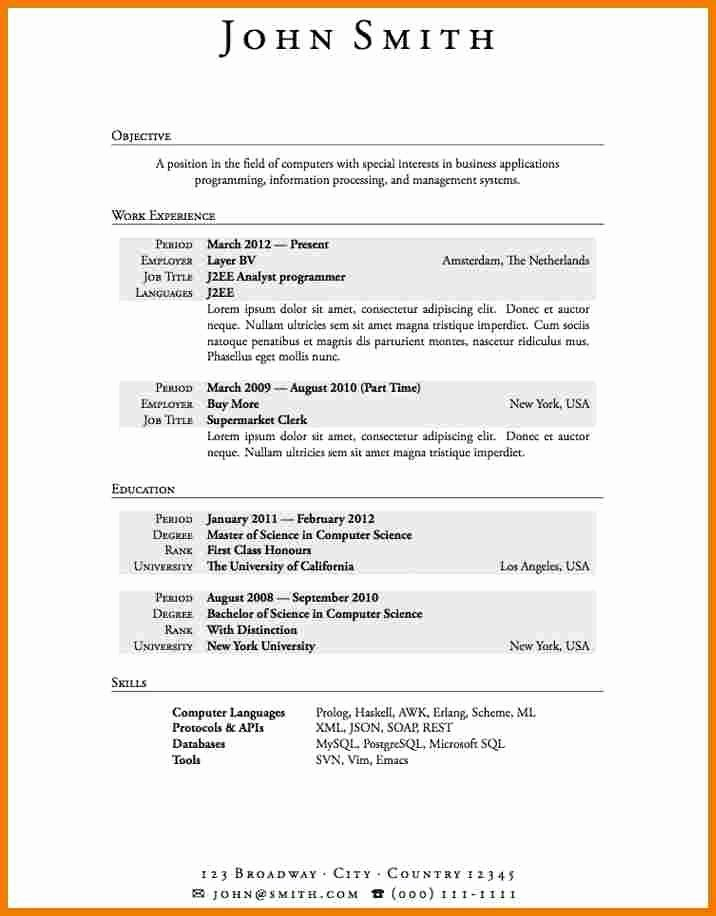 Job Resume Examples No Experience Best Resume Gallery