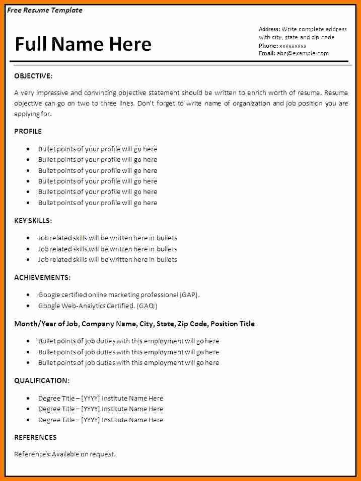 Job Resume Examples No Experience F Resume