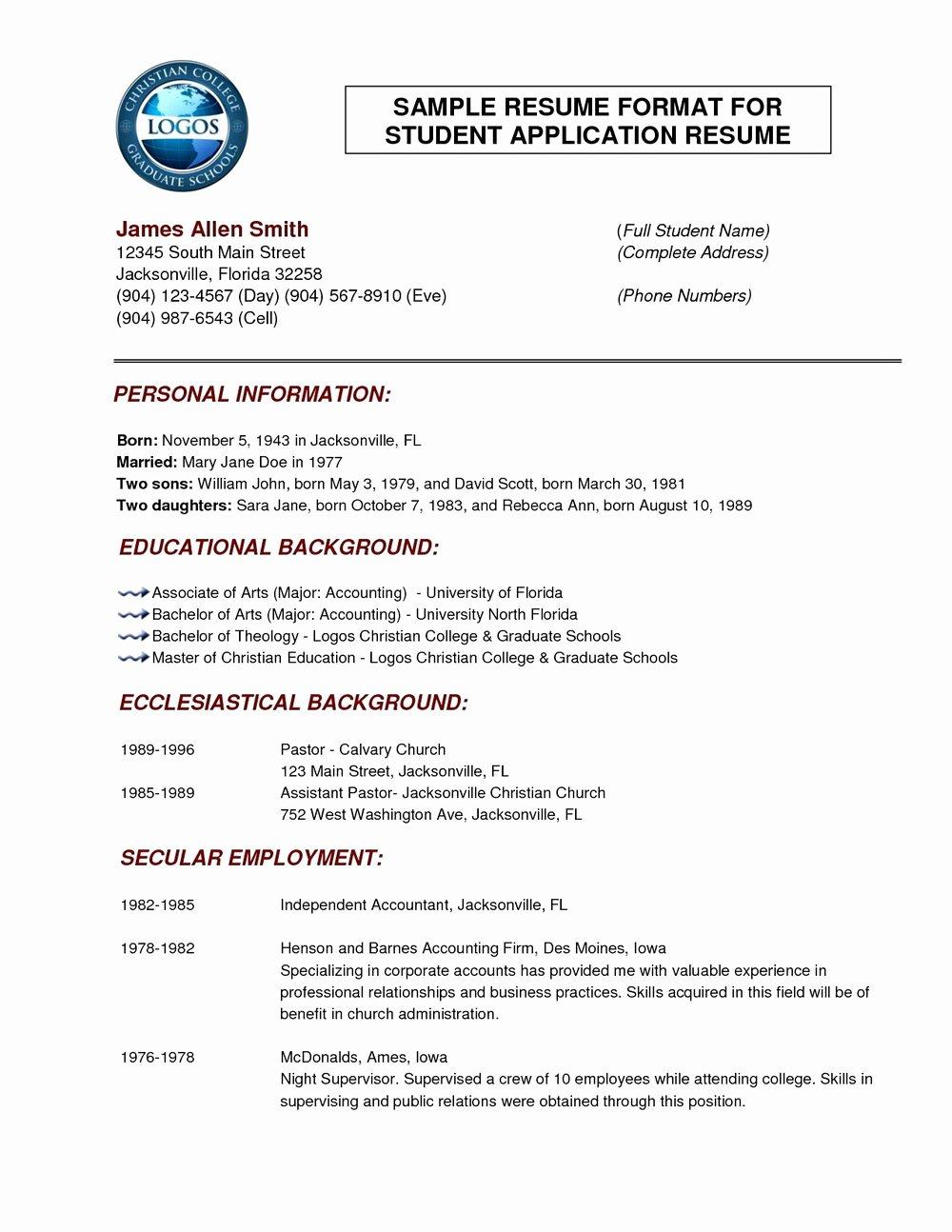 Job Resume format Download Pdf Resumes 491