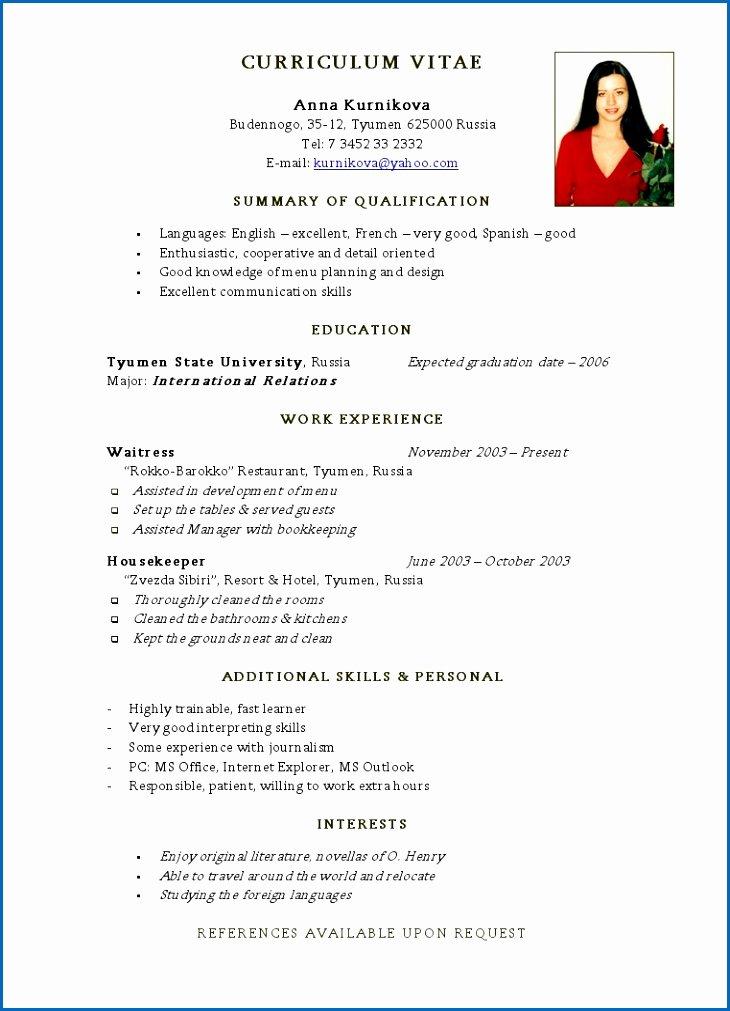 Job Resume Template Basic Resume for First Job Tjhtta