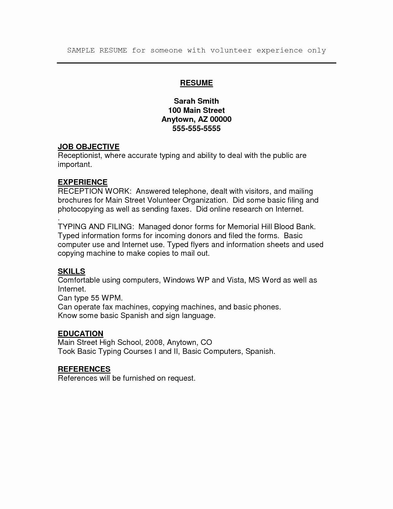 Job Resume Volunteer Experience Umecareer