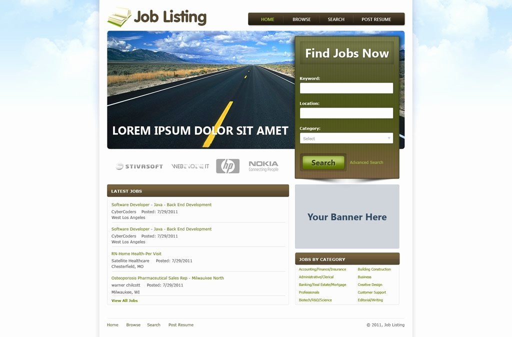 Job Website Template Free Job Portal Templates