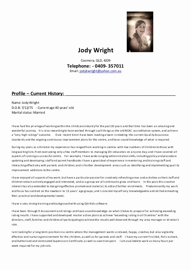 jody wright director resume 2016