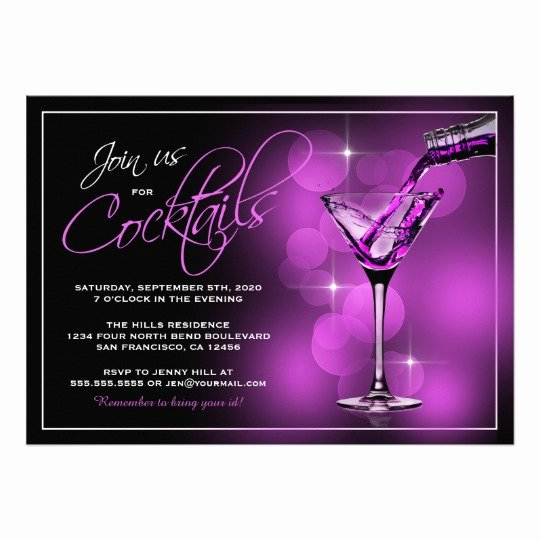 Join Us for Cocktails Invitations Cocktail Party Card