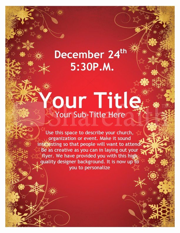 Joy Christmas Flyer Template