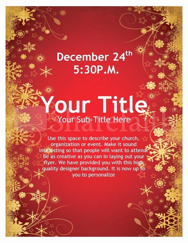 Joy Christmas Flyer Template