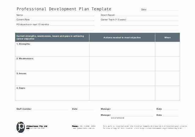 Jpabusiness Professional Development Plan Template