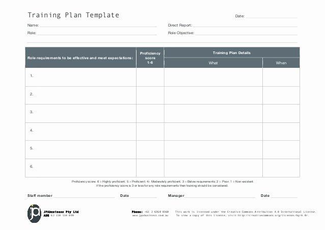 Jpabusiness Staff Training Plan Template