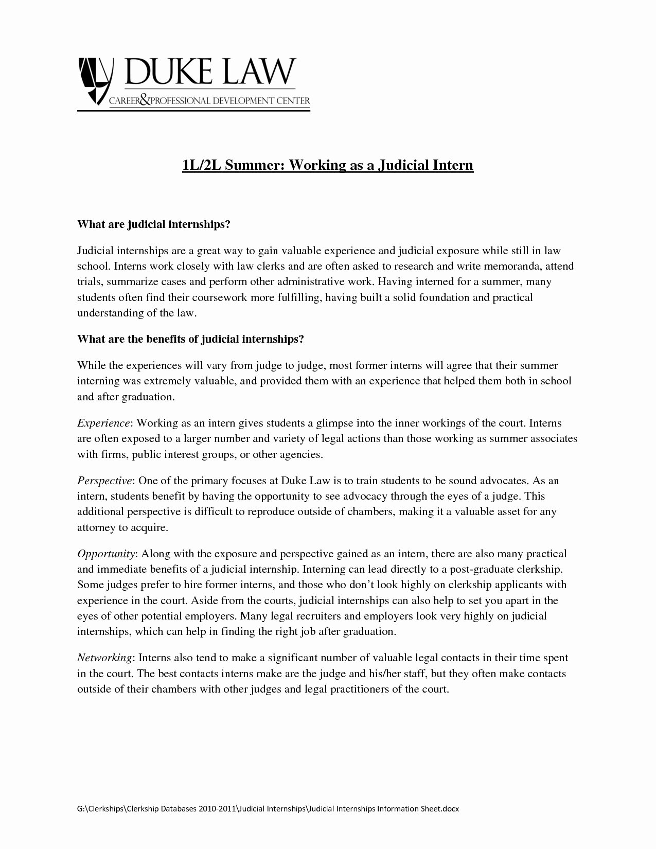 Judicial Law Clerk Resume Resume Cover Letter Legal Sample