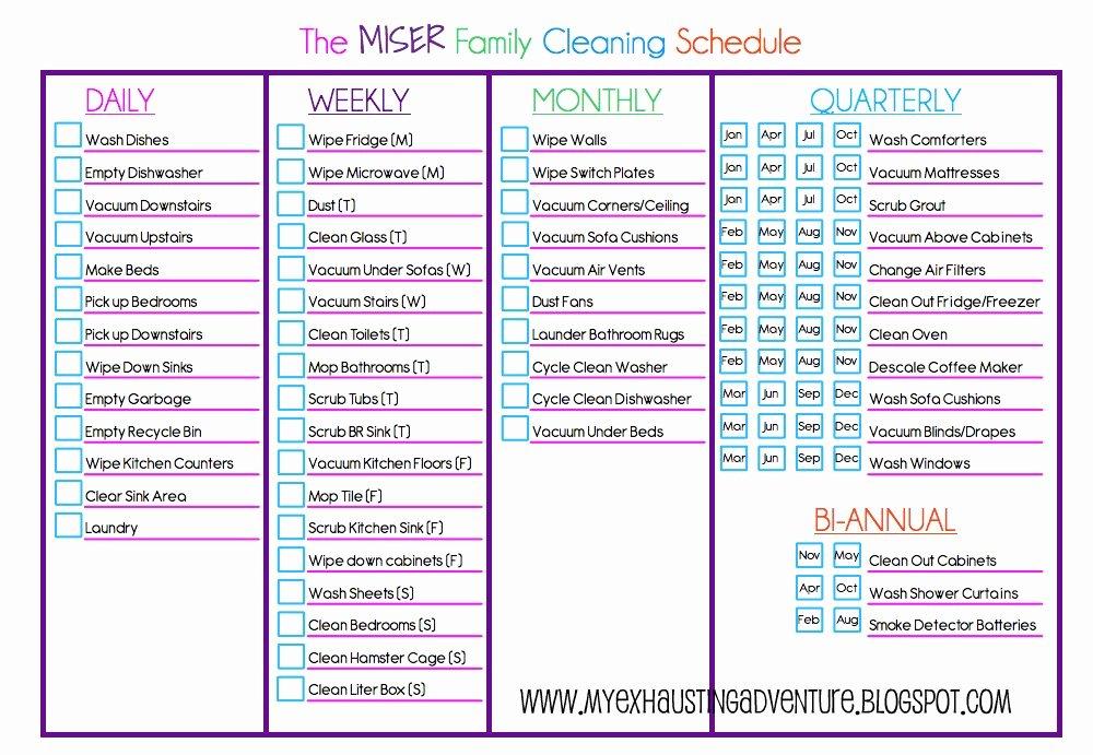Julie S Exhausting Adventure Cleaning Checklist