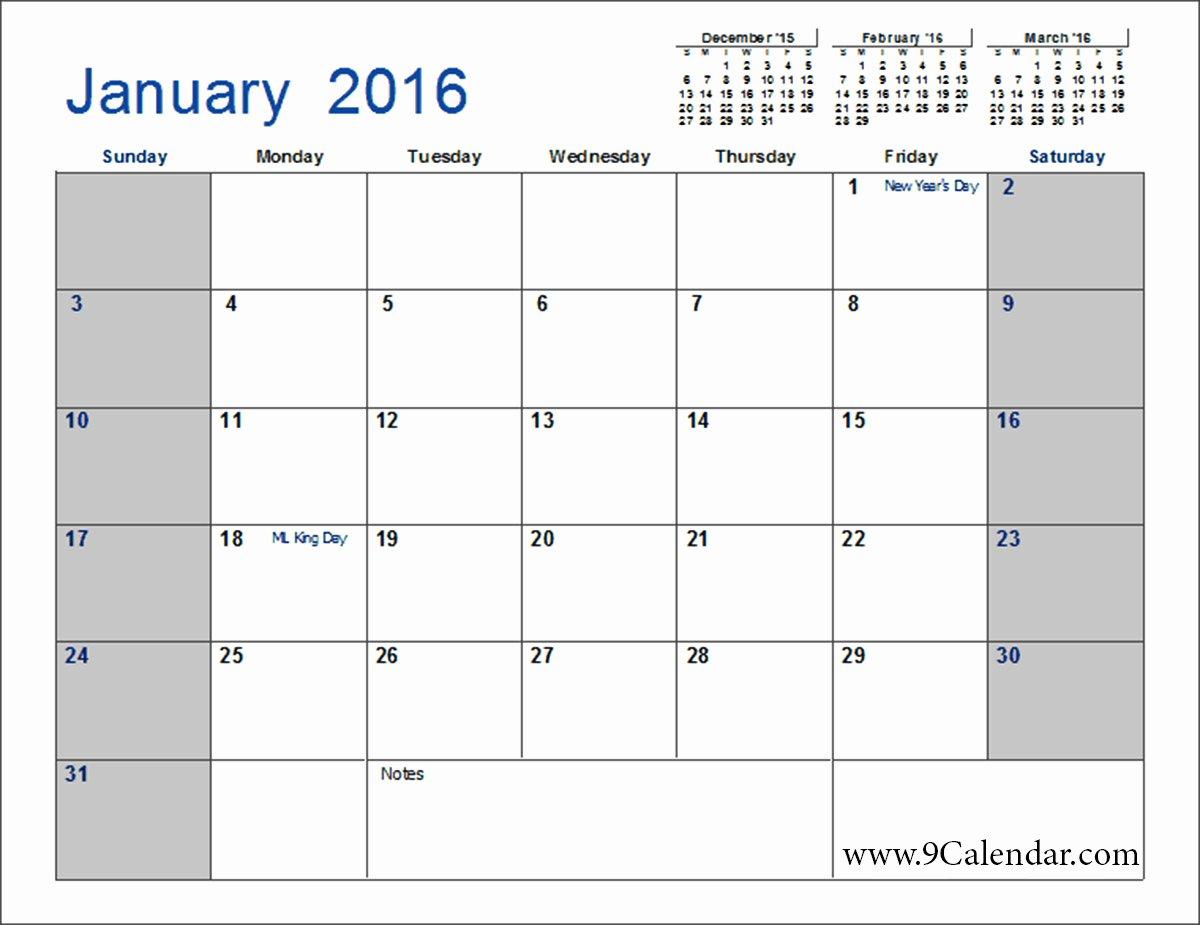 July 2016 Calendar Word – 2017 Printable Calendar