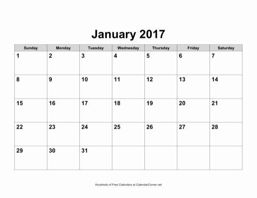 July 2017 Calendar Word