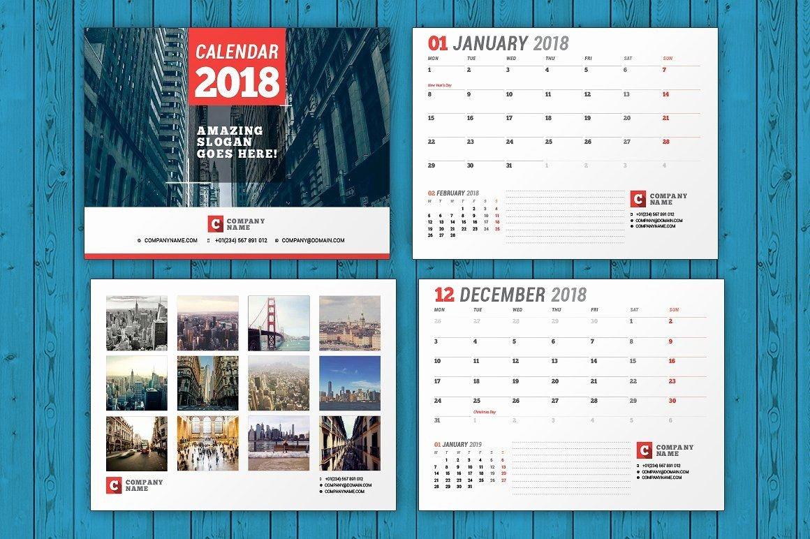 July 2018 Calendar Template Indesign