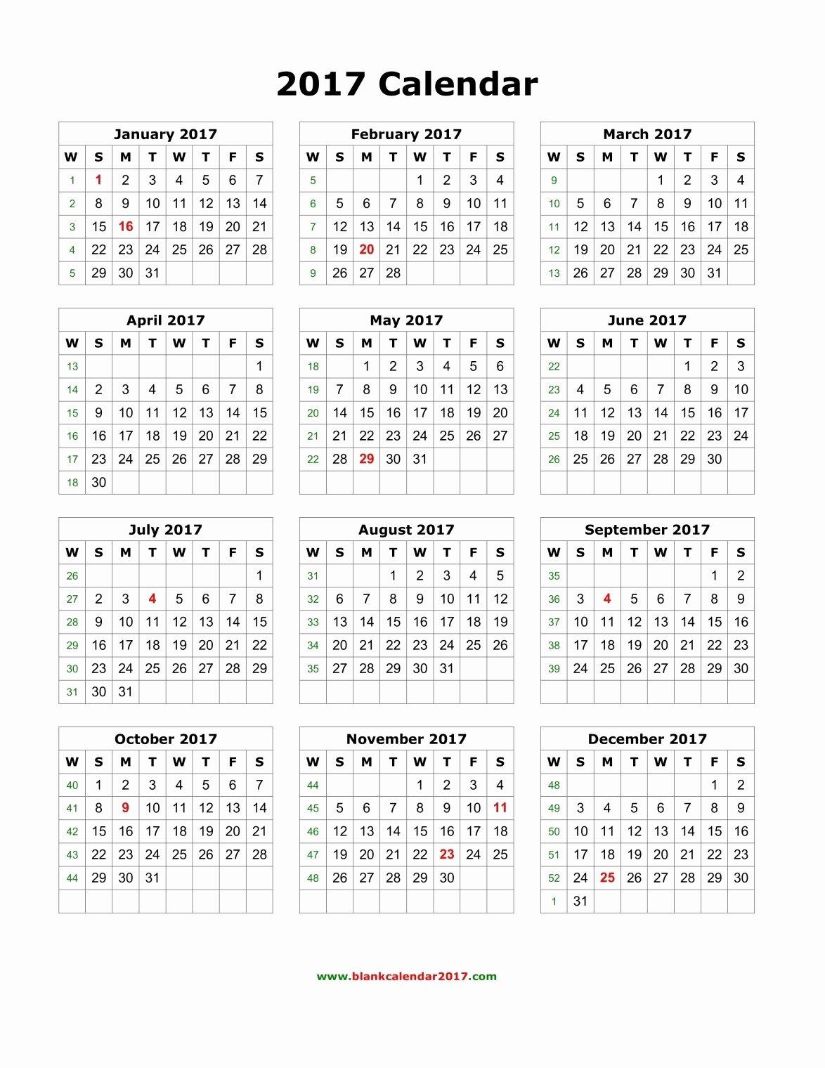 June 2017 Calendar Excel