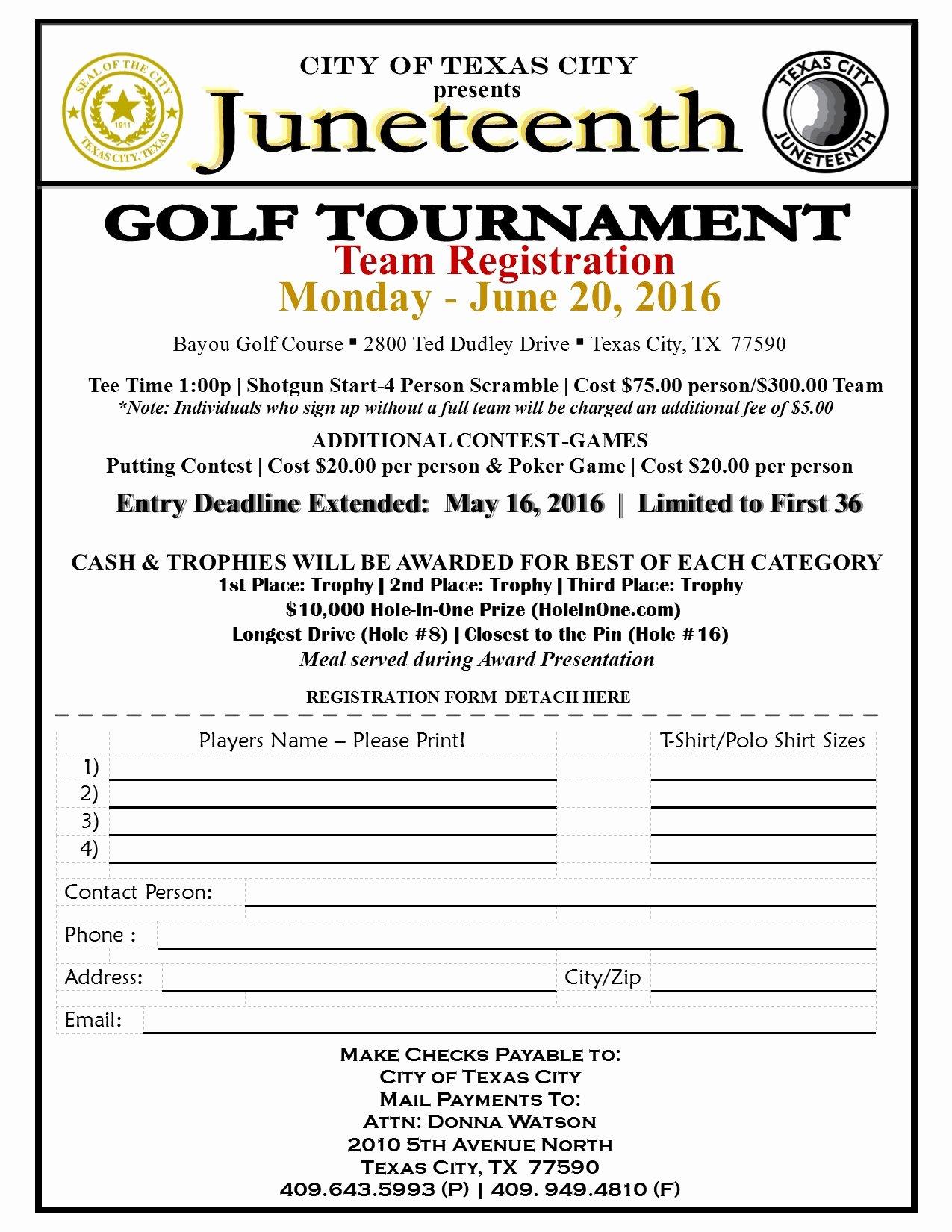Juneteenth Golf tournament 2016