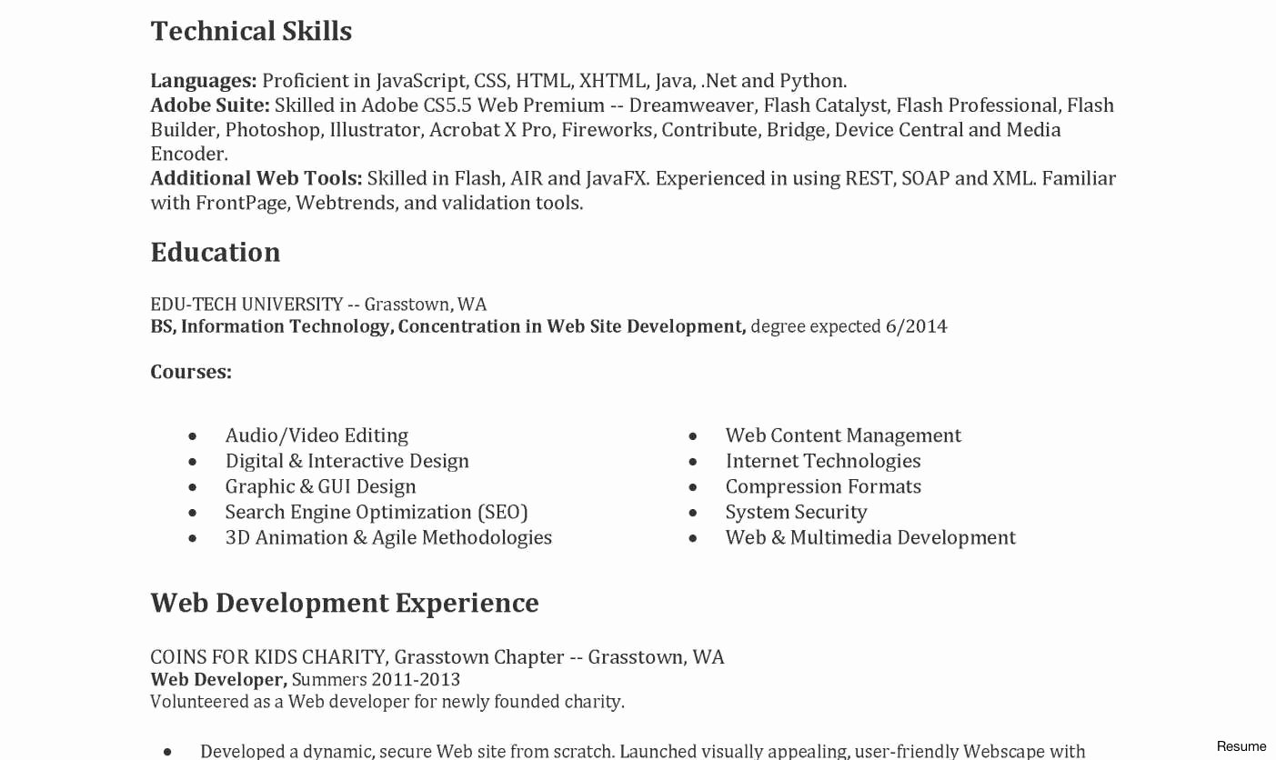 Junior Web Developer Resume Sample Cover Letter Samples ...