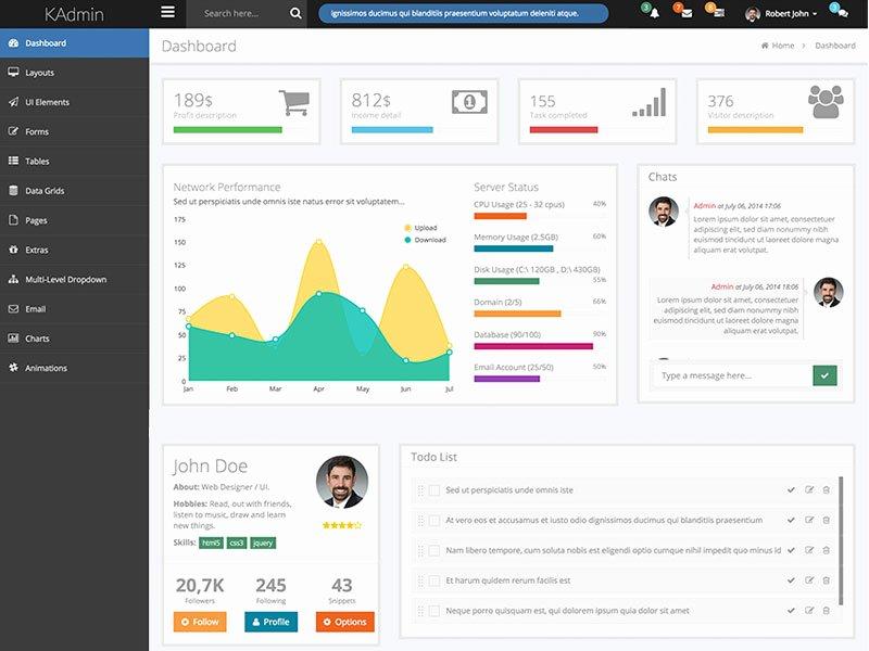 Kadmin Responsive Bootstrap Admin Dashboard Template