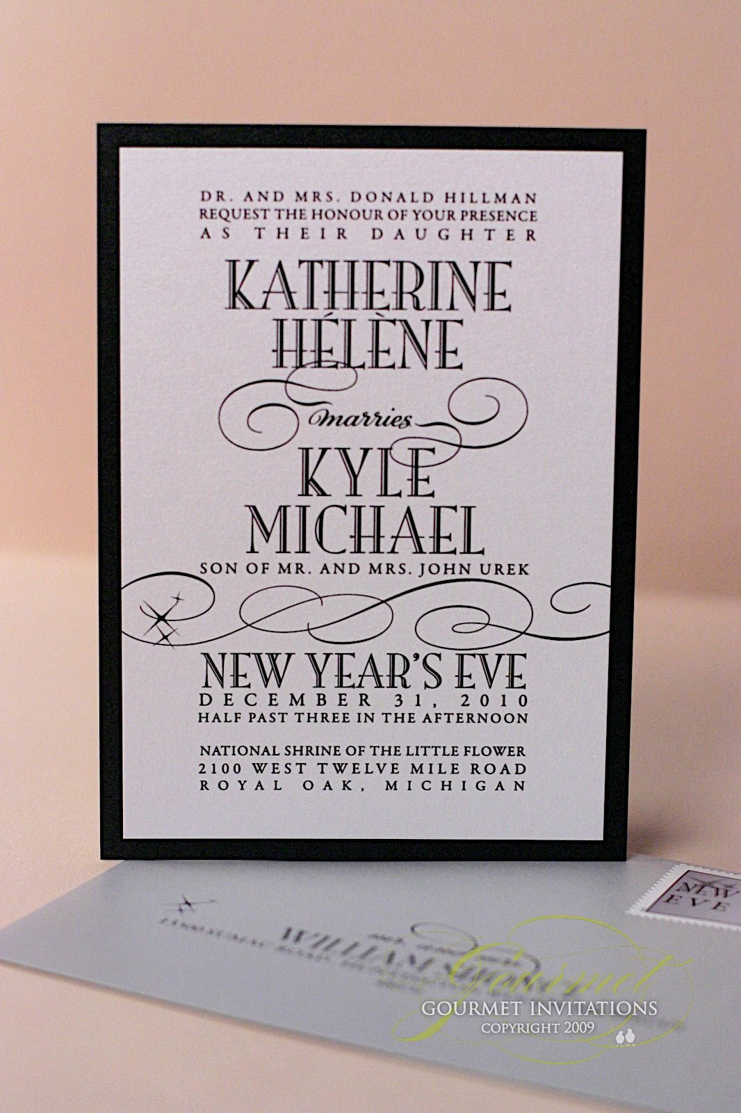 kathryn kyle new years eve wedding invitations