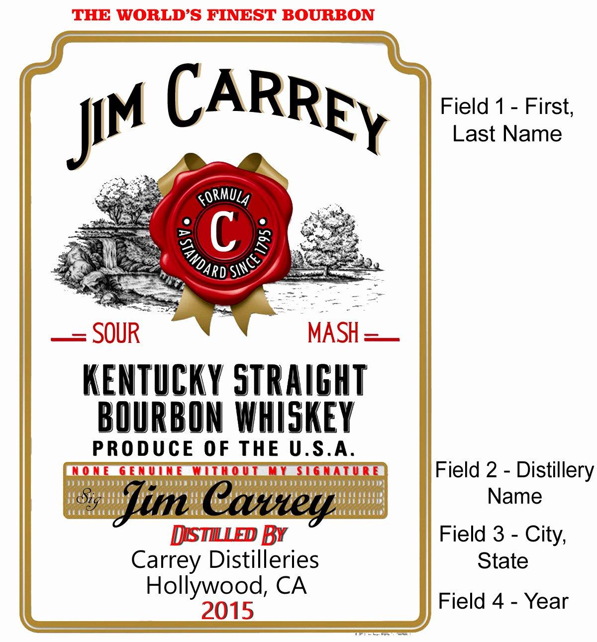 Kentucky Bourbon Label Mini Oak Barrels