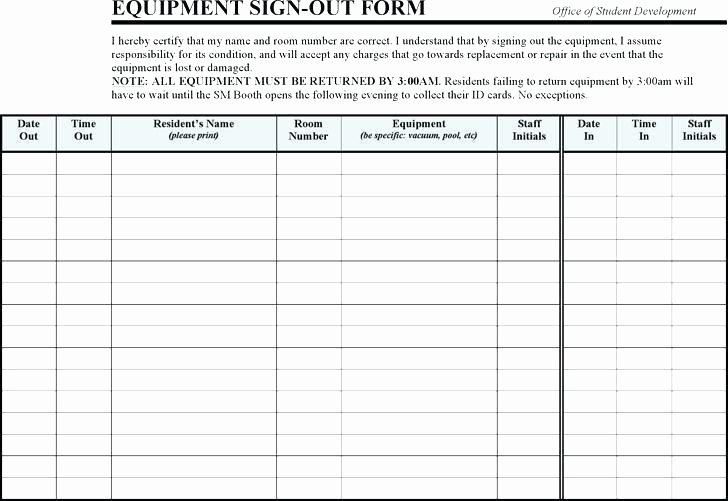 Key Sign Out form Template – Flybymedia