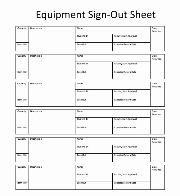 Key Sign Out Sheet Template – Tangledbeard