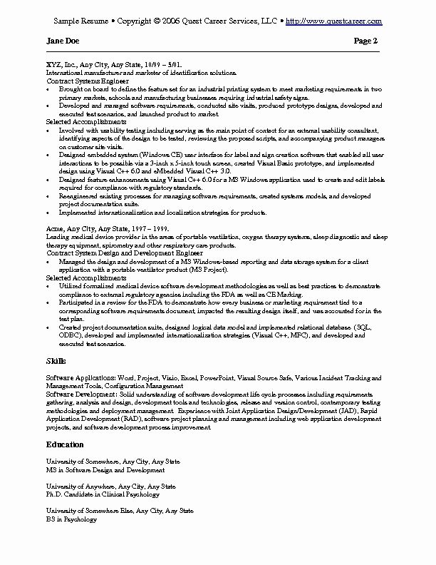 Key Words for Resume Template