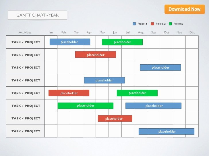 [keynote Template] Gantt Chart Year