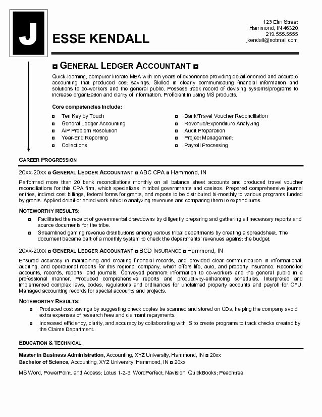 Keywords for Accounting Resume Best Resume Gallery