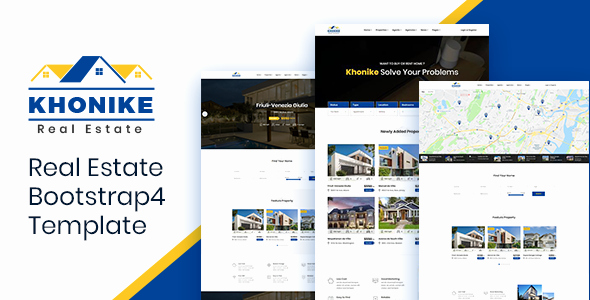 Khonike – Real Estate Bootstrap 4 Template