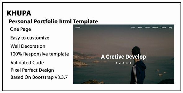 Khupa Personal Portfolio Template Nulled Download