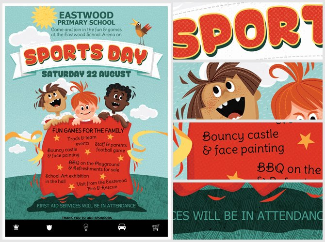 Kid S Sports Day Flyer Template Flyerheroes