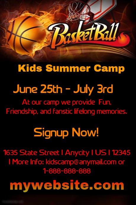 Kids Basketball Camp Template
