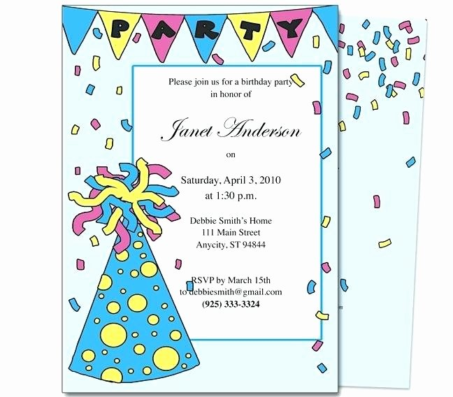 Kids Birthday Party Invitation Letter Sample Invite
