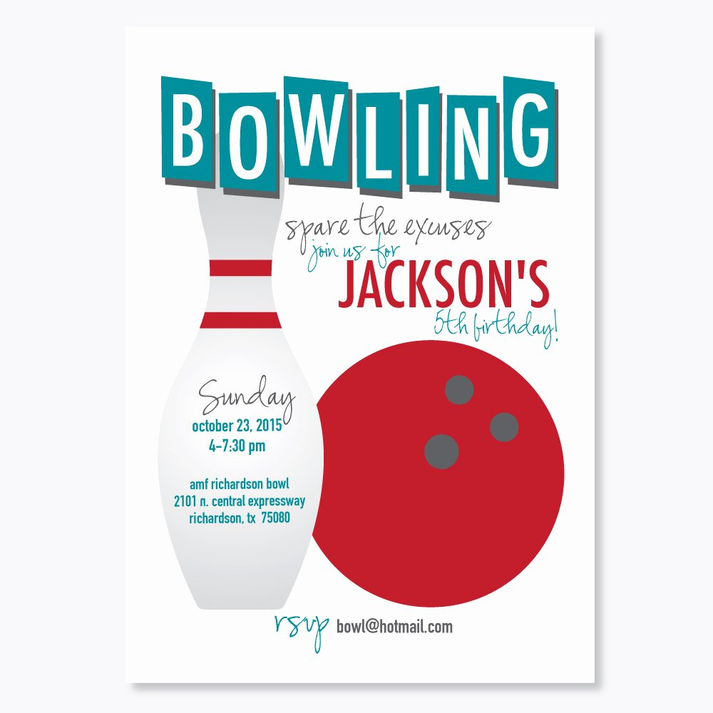 Kids Bowling Party Invitations